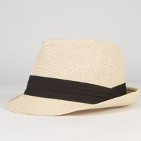 Straw Womens Fedora Natural One Size For Women 23561842301