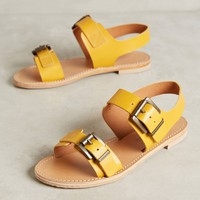 Morena Gabbrielli Yellow Leather Sandals