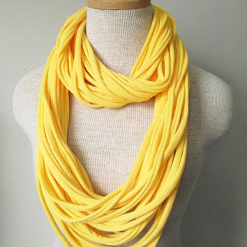 Jersey Tee Circle Scarf - Daisy Yellow - Daffodil - Sunflower - Lemon