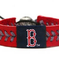 Gamewear MLB Leather Wrist Band - Red Sox Team Colors