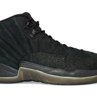 Air Jordan 12 Retro OVO Black SAMPLE Basketball Shoes <>