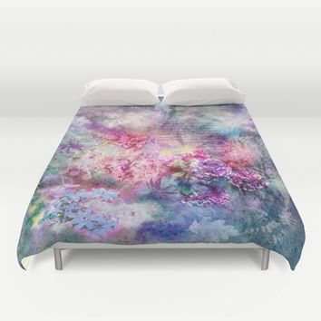 Composition in Pastel Duvet Cover by aura2000
