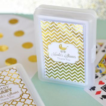 Personalized Metallic Foil Playing Cards - Baby