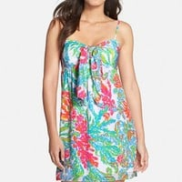 Women's Lilly Pulitzer Print Silk Babydoll Dress,
