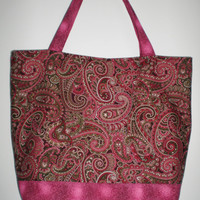 Ethnic Indian Design Tote Bag New Handcrafted Travel Tote Knitting Crocheting Crafts Computer Shopping Bag