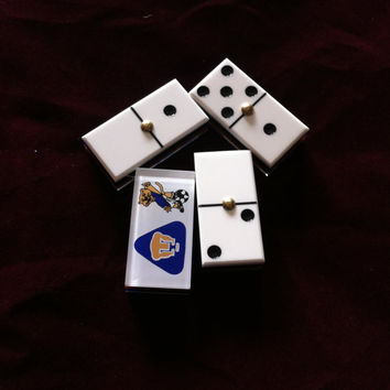 Vintage Travel Domino Game/28 large dominos/game pieces/Classic Dominos Set Game/Fun Gift