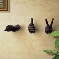 Retro stereoscopic  Bergamot Wall hooks room wall hangings Wall hook Creative resin shelving pendant coat hooks