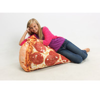 Slice of Pizza Digital-Print Blow-Up Inflatable Chair at Brookstone—Buy Now!