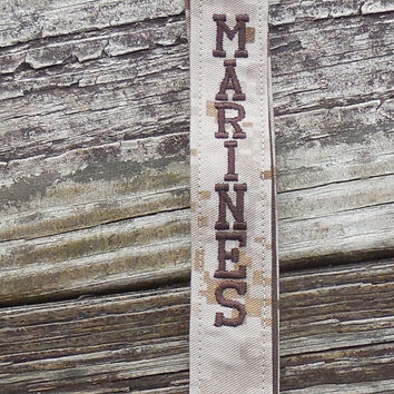 US Marines Embroidered Lanyard, Military, Tan Marpat, Embroidered, Armed Forces