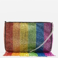 Rainbow Beaded Cross Body Bag - Bags & Purses - Bags & Accessories