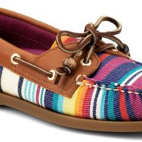 Sperry Top-Sider Cloud Logo Authentic Original Serape 2-Eye Boat Shoe RedSerape, Size 12M  Women's Shoes