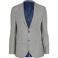 River Island MensGrey slim suit jacket