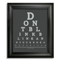 Doctor Who, Don't Blink Blink And You're Dead Good Luck Eye Chart, 8 x 10 Giclee Print BUY 2 GET 1 FREE