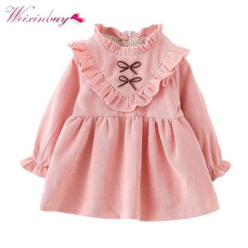 Children's Girl Petal Sleeve Princess Dress Ruched Pink Dress Free Style Girls Clothing Girls Party Wedding Dress