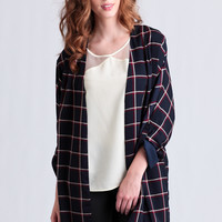 At First Glance Plaid Jacket