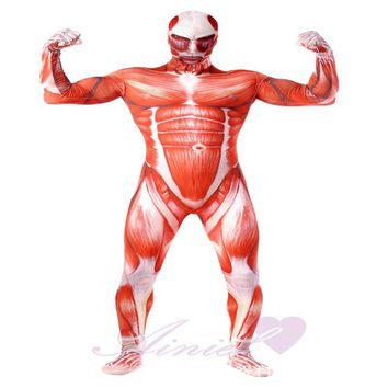 Cool Attack on Titan Ainiel   Lycra Spandex  Cosplay Costume  lTights Muscle Man Halloween Costumes  Adult Men Zentai Bodysuit AT_90_11
