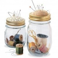 Handmade Cute and Clever Ball Jar Sewing Kits