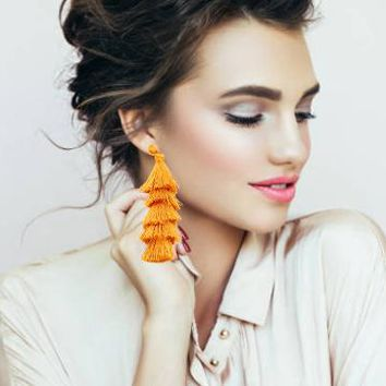 Tassel Earrings in Tiers - Click for Colors