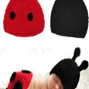 Red And Black Ladybug Crochet Baby Outfit - LAST CALL - CCN44