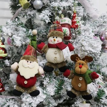 Country Gift Collection - Cloth Santa, Reindeer or Snowman Ornament