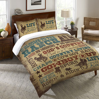 Welcome to the Ranch Duvet Cover