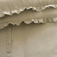 Linen nursery bedding,