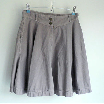 Gray Denim Swing Skirt Waist Size 29