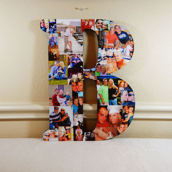 Letter Photo Collage, Picture Display, Personal Collage, Custom Photos, Photo Letters, Custom Photo Collage, Photo Wall Art, Photo Collage