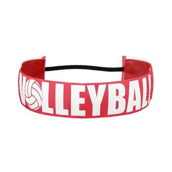 Red and White Volleyball Headband