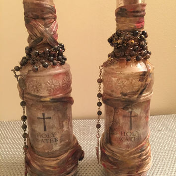 Holy water bottle - Bloodborne inspired, Vampire bottle #2/3 2016