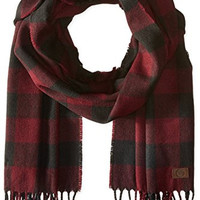 Timberland Men's Buffalo Check Scarf, Port, One Size