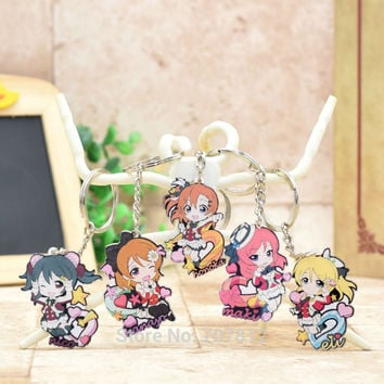 LOVE LIVE acrylic Keychain Pendant Car Key Chain Key Accessories Cute Japanese Cartoon Collection LL002 LTX1