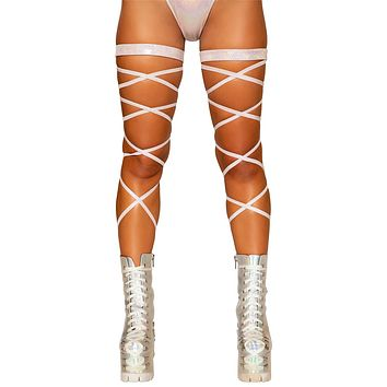 60d6efb7def Sexy Last Dance Shimmer Leg Wraps with Attached Garter