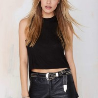 Nasty Gal No Sweat High Low Muscle Tee - Black
