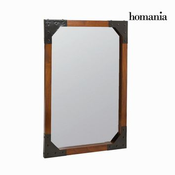 Wood and metal wall mirror - Franklin Collection
