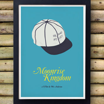 MOONRISE KINGDOM  - Island Police Poster - Wes Anderson -  rushmore life aquatic bill murray The Darjeeling Limited Roman Coppola