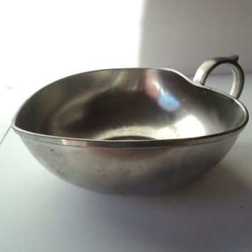 Royal Holland Pewter Dish by Daalderop Heart Shaped Pewter Bowl Butter Dish Made in Holland