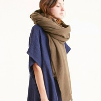 Maison de Soil Pure Wool Stole in Mocha Brown - SCARVES - ACCESSORIES - MOHAWK WOMAN