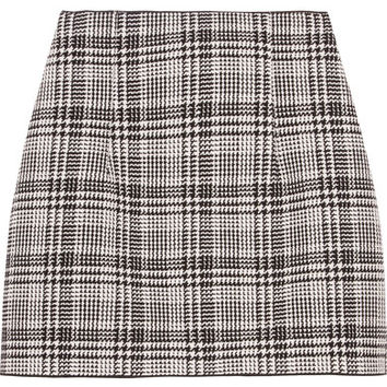 Off-White - Checked tweed mini skirt