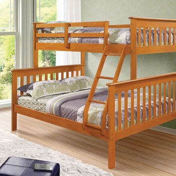 Alaina Honey Twin over Full Bunk Bed