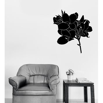 Vinyl Wall Decal Flowers Bud and Leaves Home Interior Decor Unique Gift (n1289)