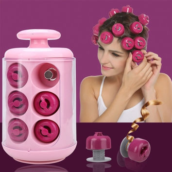 Professional Electric Curly Pods Hair Styling Tool 12 Rollers Hair Curler