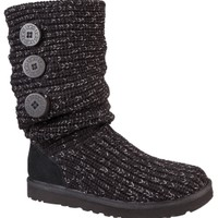 UGG Australia Women's Classic Cardy Metallic Winter Boot - Black/Silver | DICK'S Sporting Goods