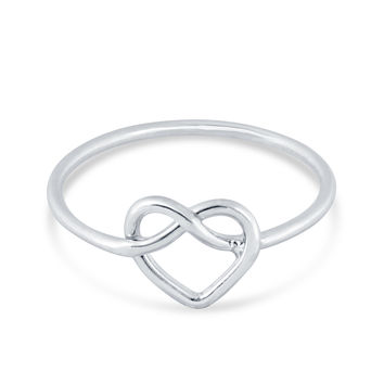 Knotted Heart Ring