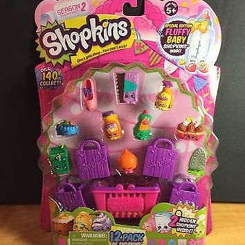 Shopkins season 2 12 pack fluffy baby series 2 moose toys