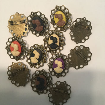 Vintage Cameo BROOCHES AND PINS 13x18 Free Shipping