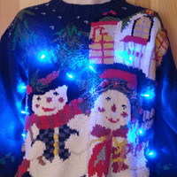 Holy Grail of Ugly Funny Light Up Christmas Sweater