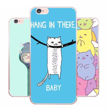 Kawaii Cat Silicone Phone Case For iPhone 8, 8 Plus, X
