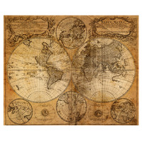 Mappemonde World Map Decal