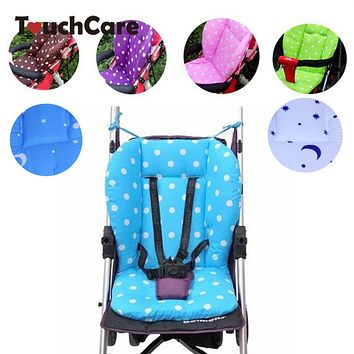 Thick Colorful Baby Infant Stroller Seat Pram Cushion Chair Car Umbrella Cart Seat Color Dot Cotton Mat Stroller Mat For Kids